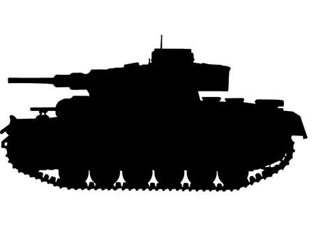 WW2 Series -  German Panzer III Tank Stock Vector - 8763785