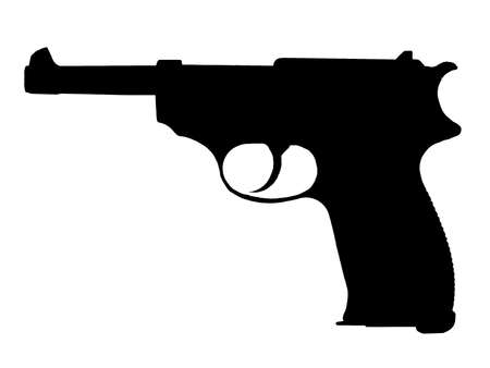 WW2 Series -German Walther P38 Pistol  Vector