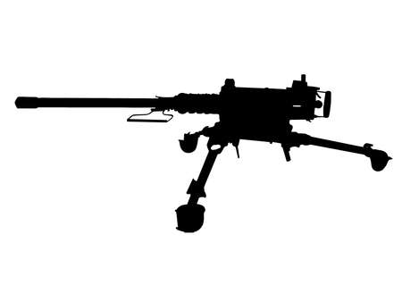 machine gun: WW2 Series - American Browning 12.7mm heavy machine-gun  Illustration