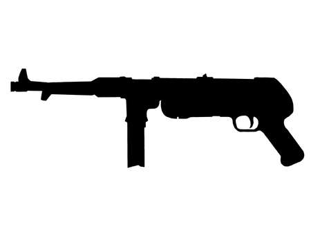 WW2 Series - German MP38 sub-machine gun  Vector