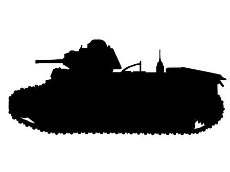 WW2 Series - French Char B1-bis Tank Stock Vector - 8763810