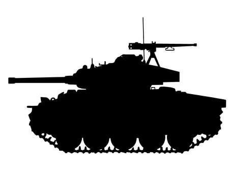 WW2 Series - American M24 Chaffee Tank  Ilustração