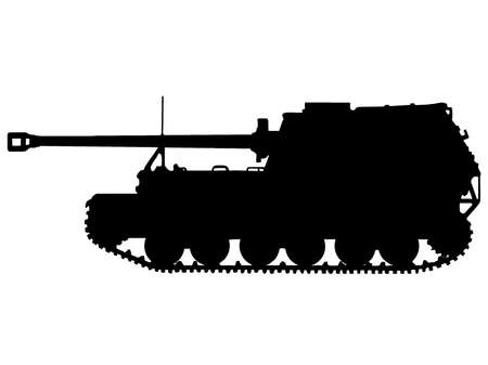 WW2 Series - German Tiger (P) Elefant Tank Destroyer (Panzerjager)  Vector