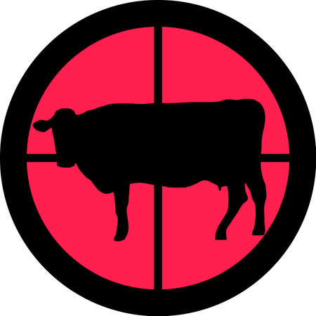 intolerance: In the scope series - Cow in the crosshair of a gun�s telescope. Can be symbolic for need of protection, being tired of, intolerance or being under investigation.
