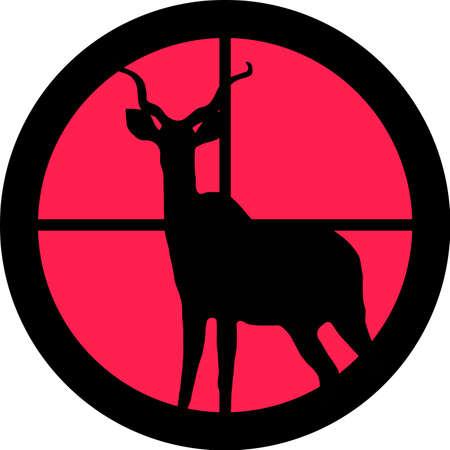 intolerancia: En la serie de alcance - Kudu  Koedoe en la forma de Cruz de un gun?s telescopio. Puede ser simb�lico para la necesidad de protecci�n, que se cans� de, las formas de intolerancia o est�n bajo investigaci�n.