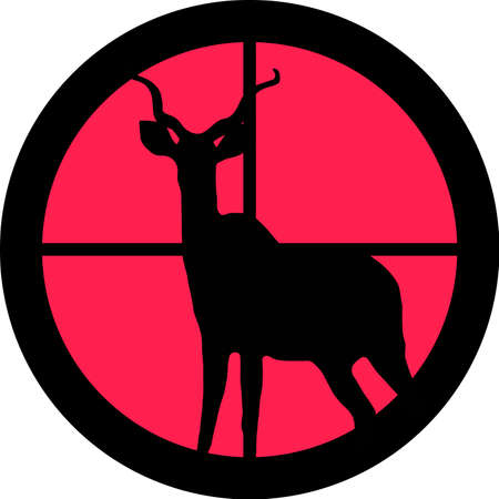 eliminate: In the scope series - Kudu  Koedoe in the crosshair of a gun�s telescope. Can be symbolic for need of protection, being tired of, intolerance or being under investigation.