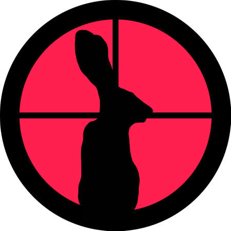 intolerance: In the scope series - Rabbit in the crosshair of a gun�s telescope. Can be symbolic for need of protection, being tired of, intolerance or being under investigation.