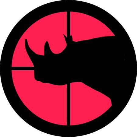 intolerancia: En la serie de alcance - rinoceronte en la Cruz de un telescopio de gun?s. Puede ser simb�lico para la necesidad de protecci�n, que se cans� de, las formas de intolerancia o est�n bajo investigaci�n.