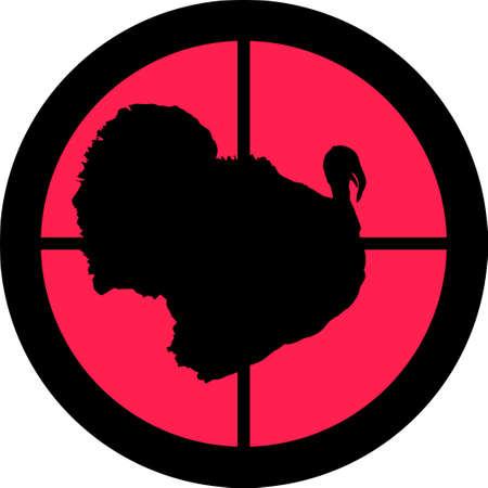 intolerancia: En la serie de alcance - Turqu�a en la Cruz de un telescopio de gun?s. Puede ser simb�lico para la necesidad de protecci�n, que se cans� de, las formas de intolerancia o est�n bajo investigaci�n.