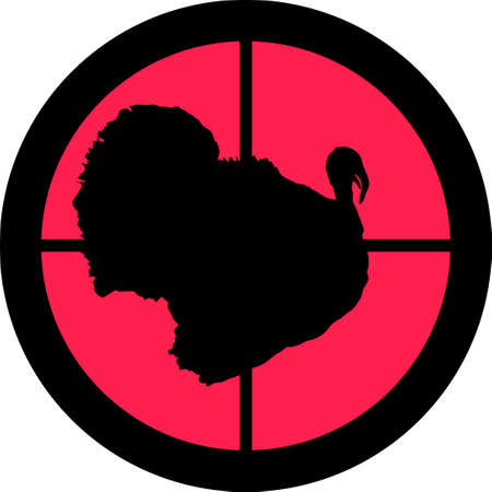 In the scope series - Turkey in the crosshair of a gun�s telescope. Can be symbolic for need of protection, being tired of, intolerance or being under investigation. Illustration