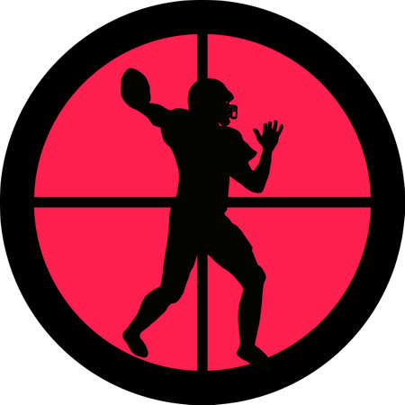 intolerance: In the scope series - American Football in the crosshair of a gun�s telescope. Can be symbolic for need of protection, being tired of, intolerance or being under investigation.