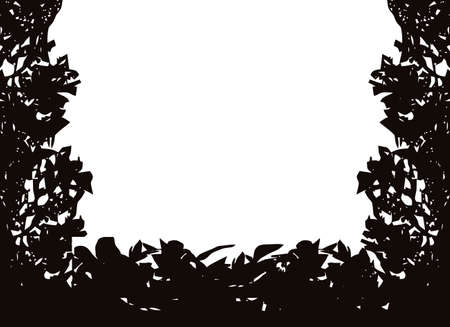 Isolated bush or jungle frame Stock Vector - 9071053