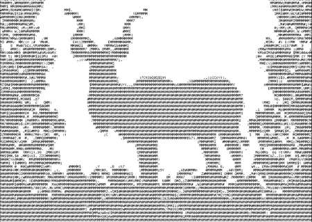 Kudu (Koedoe) in Isolated bush or jungle in ASCII characters photo