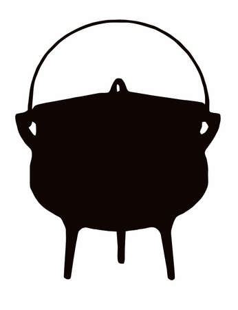 boiling pot: African Cooking Pot - Tri (three legged) pot Illustration