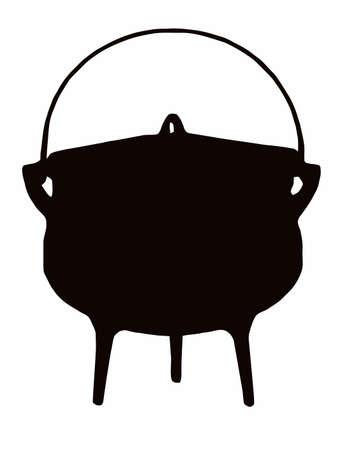 African Cooking Pot - Tri (three legged) pot Ilustração