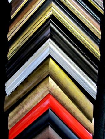 Single framing frame corners display shelf - red gold and black Stock Photo - 9559752