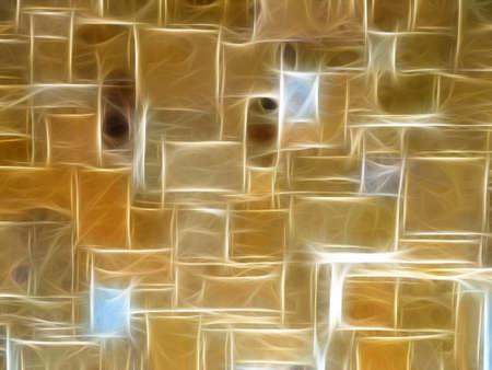 illustrierte: Funkelnde Neon Golden Steinmauer hintergrund illustriert Lizenzfreie Bilder