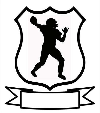 name badge: American Football Sport Emblem Badge Shield Logo Insignia Coat of Arms Illustration