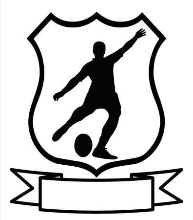 voetbal silhouet: Rugby Football Sport embleem Badge Shield Logo Insignia wapenschild