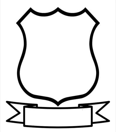 shield logo: Empty Blank Emblem Badge Shield Logo Insignia Coat of Arms