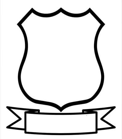 empty pocket: Vac�o en blanco escudo de Logo Insignia emblema distintivo escudo de armas