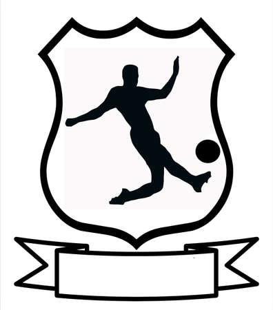blank area: Soccer Sport Emblem Badge Shield Logo Insignia Coat of Arms
