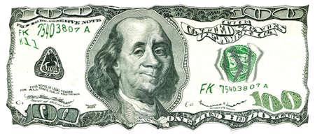 Shaky 100 Us Dollar Bill Value Under Pressure Stock P O 10282038