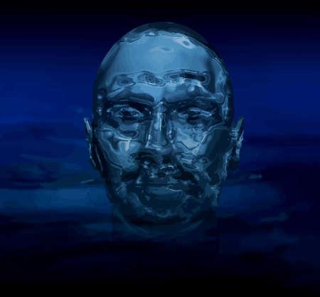 watery: Artistico immagine astratta di un uomo