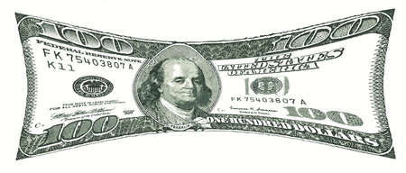 pressurized: Pressurized 100 US Dollar Bill Value under Pressure  Stock Photo