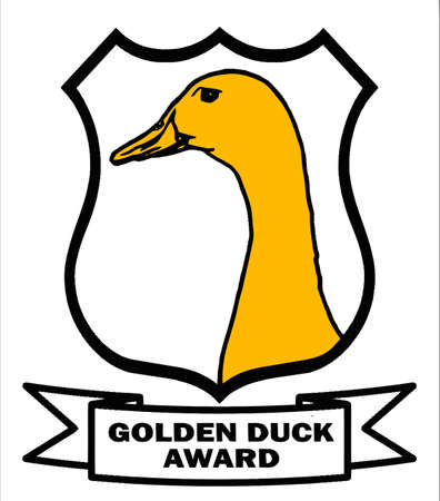 Cricket Golden Duck Award Shield with white background VB Vector