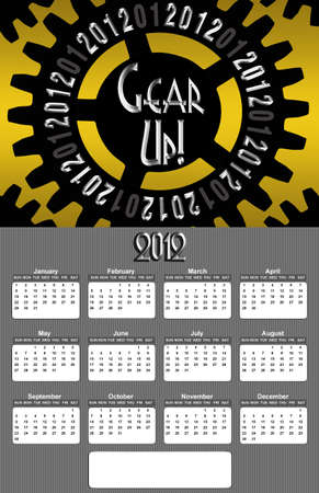 Gear Up Image 2012 Promotional Annual Calender with Blank Open Copy Area (Large Image) photo