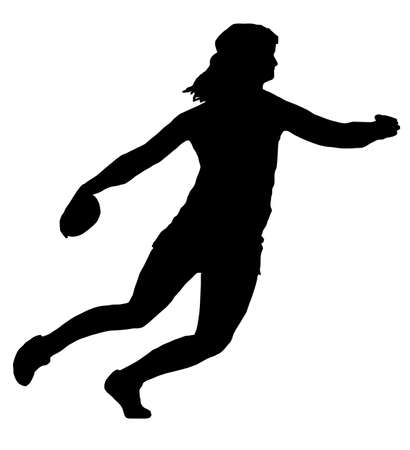 Isolated Image of a Female Discus Thrower