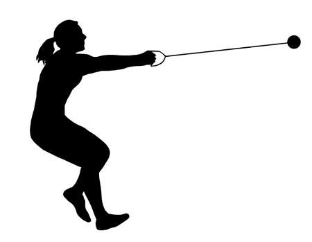 Isolated Image of a Female Hammer Thrower Stock Vector - 10928811