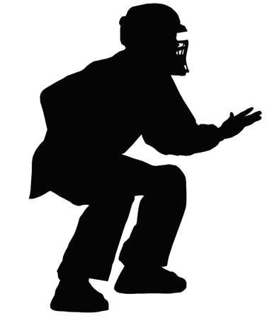acolchado: �rbitro de b�isbol Decisi�n Indicaci�n de dar se�al con la mano
