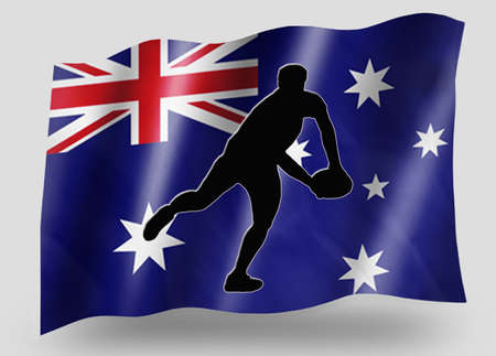 Country Flag Sport Icon Silhouette Series � Australia Rugby Pass photo