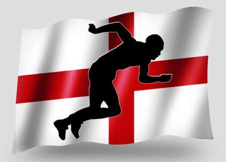 Country Flag Sport Icon Silhouette Series � English Athletics photo