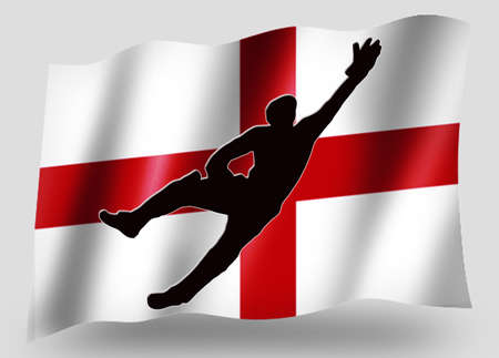 Country Flag Sport Icon Silhouette Series � English Cricket Catch photo