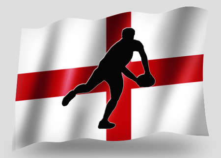 Country Flag Sport Icon Silhouette Series – English Rugby Pass photo