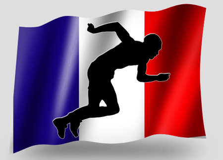 Country Flag Sport Icon Silhouette Series � French Athletics photo