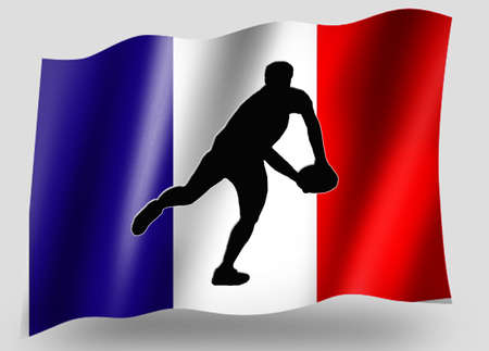 Country Flag Sport Icon Silhouette Series � French Rugby Pass photo
