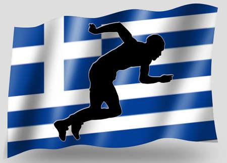 Country Flag Sport Icon Silhouette Series � Greece Athletics photo