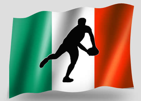 Country Flag Sport Icon Silhouette Series – Irish Rugby Pass photo