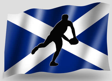 scots: Country Flag Sport Icon Silhouette Series � Scottish Rugby Pass