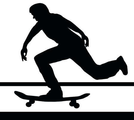 ramp: Skateboarding Skater Building Up Speed on Skateboard