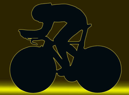 Green Gold Sport Silhouette Bicycle Race isolated Stock Photo - 11622169