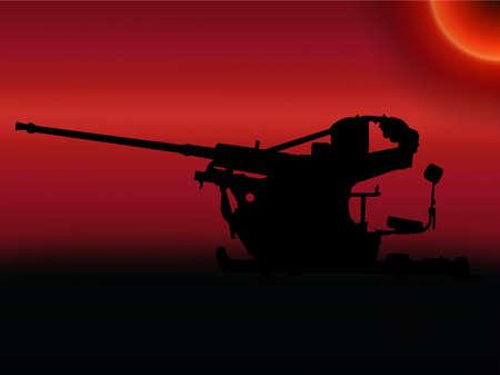 flak: WW2 Sunset German 2-cm Flak 30 light anti aircraft gun