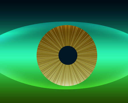 Natures Golden Eye in Natural Green and Blue Color Stripes