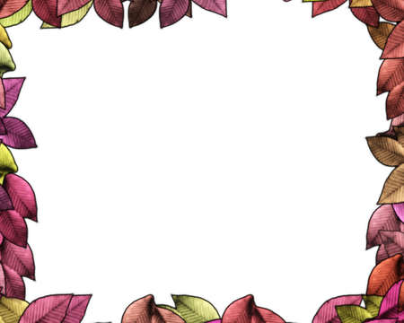 Isolated Autumn Leaves Frame with Text Space Stock Photo - 12806241