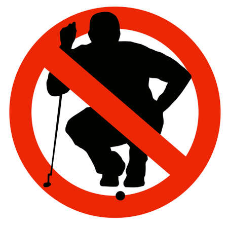 No Golf Allowed on Traffic Prohibition Sign photo