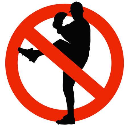 No Baseball Allowed on Traffic Prohibition Sign Stock Photo - 12806276